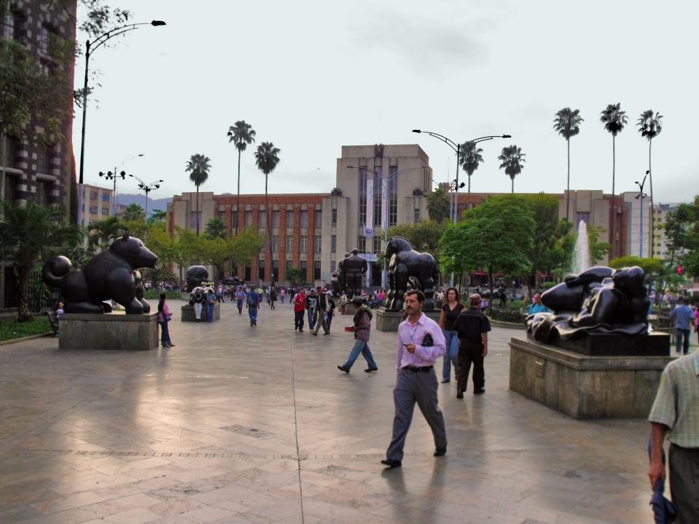 looking towards Museo de Antioquia