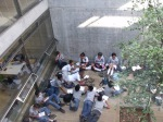 Students in a Courtyard