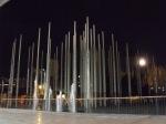 illuminated Columns and Biblioteca epm reflecting pool