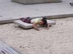 Child in sand